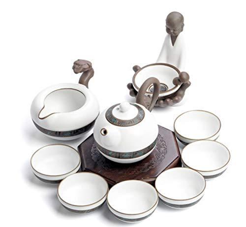 Exquisito Juego de té Dehua Horno de cerámica Horno Tetera Set ...