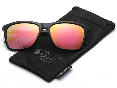 Bevi Unisex Polarized Sunglasses Wayfarer UV400 Brand Designer Sun glasses 0733C8BKPK by Bevi (Image #2)