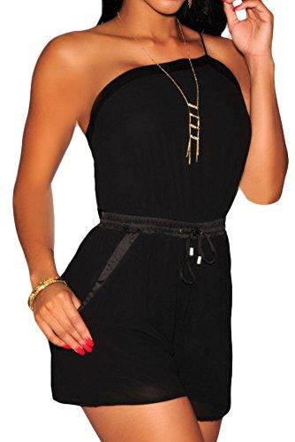 Toocool - Overall donna tutina jumpsuit monospalla shorts vestito abito sera nuovo DL-1777