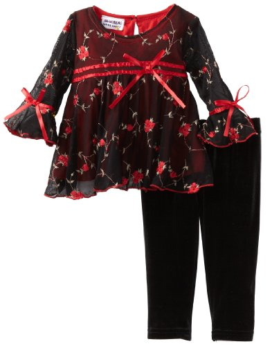 Blueberi Boulevard Baby Girls' Embroidered Set