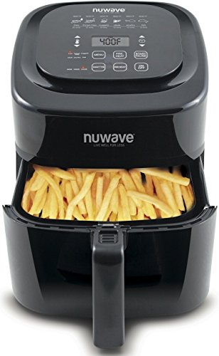 NuWave Brio Black 6 Quart Digital Air Fryer