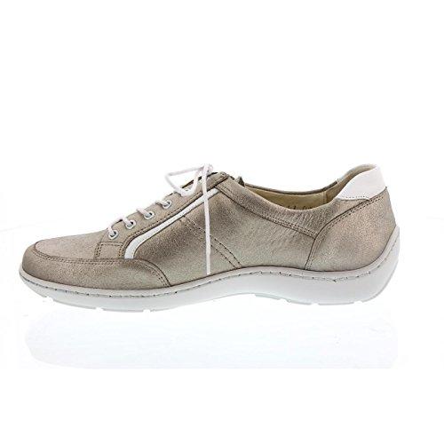 Sneakers Hiroko Ranger Da Donna, Lightgold / Bianco