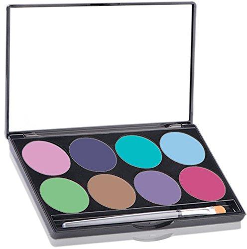 Mehron Makeup Paradise AQ Face & Body Paint 8 Color Palette- PASTEL (Halloween Costume Award Ideas)
