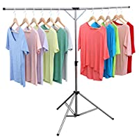 exilot Foldable Portable Space Saving Clothes Drying Rack, Adjustable High Capacity Stainless Steel Laundry Drying Rack