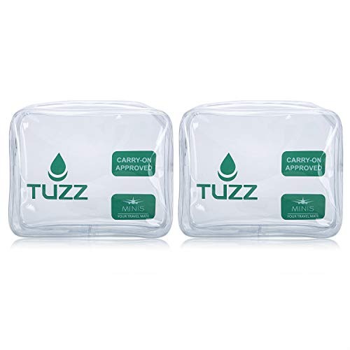 ((Pack 2) TSA Approved Clear Travel Toiletry Bag quart bags with zipper for men women   Airline 3-1-1 carry on compliant bag)
