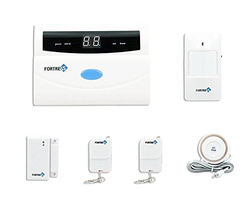 Fortress Security Store (TM) S02 Basic wireless Home and Business Security Alarm System DIY Kit with Auto Dial, Motion Detectors and More for Complete Security Fortress Security Store