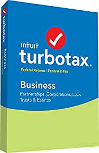 TurboTax Business Tax Software 2017 Fed + Efile PC Disc