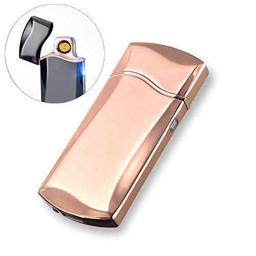 USB Rechargeable Windproof Electrothermal Flameless No Gas Arc Electric Cigarette Lighter