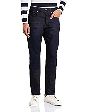 Men's 3301 Tapered Fit Pant in Visor Stretch Denim Dk Aged