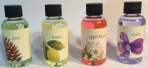 Rainbow Genuine (Apple, Lemon, Pine, Violet) Fragrance Collection Pack for Rainbow and - For Rainbow Vacuum Scents