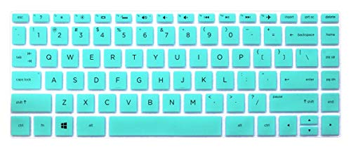 "Keyboard Skin for 2018/2017 HP Spectre x360 13.3"" 13t Quad Core, 13-AC013DX AC023DX AC033DX AC063DX 13-AE011DX AE012DX AE013DX AE014DX AE052NR 13-W013DX W023DX W053NR Series (with Square Corner), Mint"