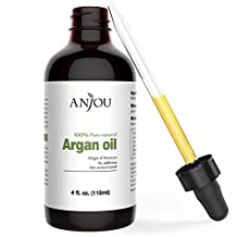 Anjou Moroccan Argan Oil Cold Pressed 100% Pure for Hair, Face, Skin, Body & Nails, 4 fl. oz