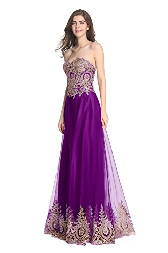 Fanciest -  Vestito  - linea ad a - Donna Purple 40