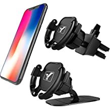 YICTONE Car Phone Mount 2 Pack Set,Design for Popsocket Dashboard & Air Vent Dual Modes Phone Hoder, One-Hand Simple Operation