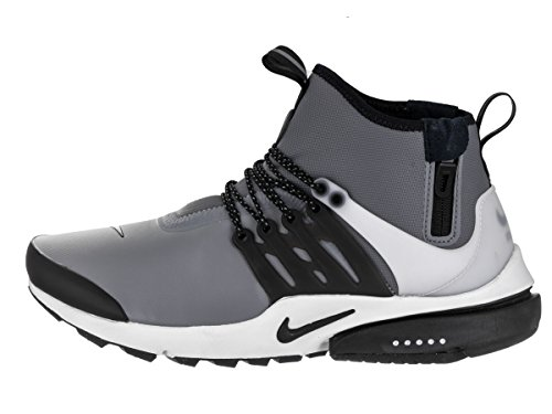 Nike Air Presto Mid Utility Men's Shoes Grey(cool Grey /Black /Off White / Volt) DsetNPAY