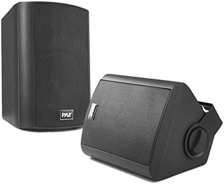 Pyle PDWR52BTBK Wall Mount Waterproof & Bluetooth Speakers, 5.25'' Indoor/Outdoor Speaker System (Black)