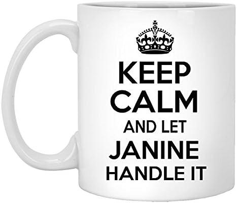 Amazon.com: Tazas personalizadas granel para Janine – Keep ...