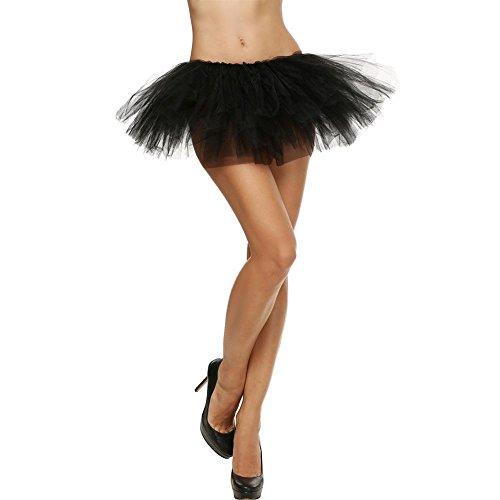 extensible couches tulle Noir extensible Robe pour en Jupe Lenfesh Tutu adulte 5 femmes wqHWx8Y6t