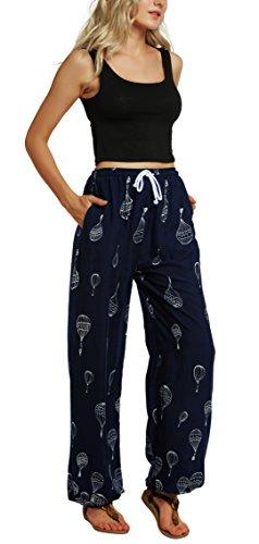 Urban Boho GoCo Pantalon Harem Imprimer Pantalon lastique Floral Dames Femmes 6 Taille rrq6Sfwxg