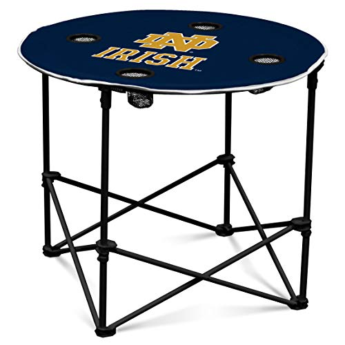 Logo Brands NCAA Notre Dame Fighting Irish Round Table, Navy/White