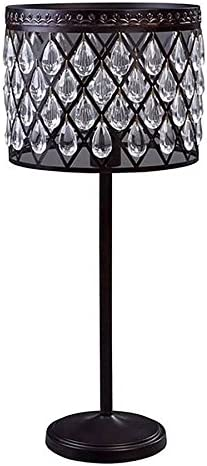 Amazon Com Allen Roth Eberline 25 In Bronze Electrical Outlet On Off Switch Table Lamp With Metal Shade Home Improvement