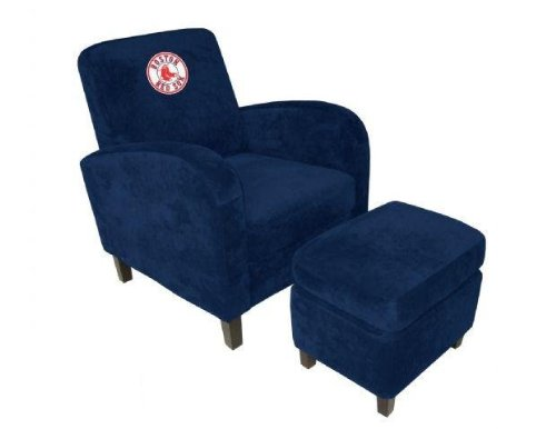 MLB Den Chair and Ottoman MLB Team: Boston Red Sox (Boston Red Sox Chairs)