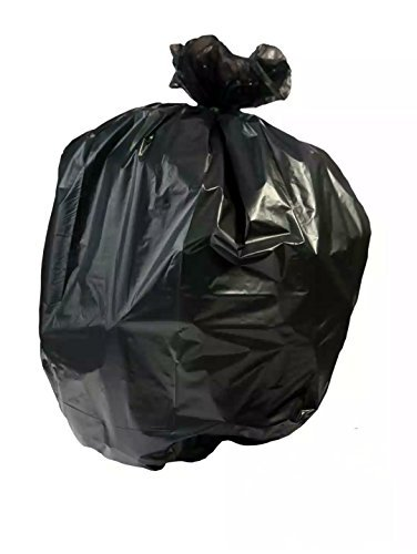 Resilia Tall 15 Gallon Trash Bags - Black 100 Bags/Roll, 1 Mil Thick, 24x33 inches (WxH), Wire Ties Included, Made in ()