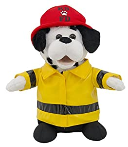 sparky the fire dog. cuddle barn animated plush firefighter dalmatian dog toy - sparky (cb7833) the fire
