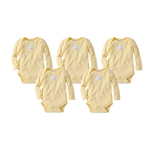 - Burt's Bees Baby Unisex Baby Bodysuits, 5-Pack Short & Long Sleeve One-Pieces, 100% Organic Cotton, Sun Long, 6-9 Months