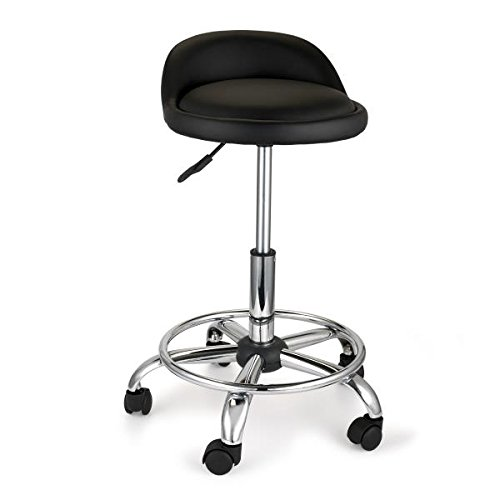 woodriver adjustable height shop stool with casters and feet hardware stools. Black Bedroom Furniture Sets. Home Design Ideas
