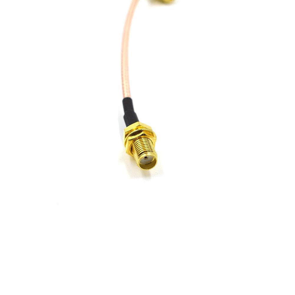 Hxchen 30cm//12 RF RG316 SMA Male to SMA Female Nut Bulkhead Crimp Antenna Low Loss Coaxial Cable 2 Pcs