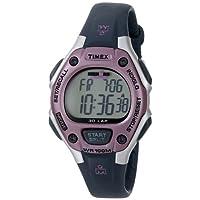 Timex - Reloj mediano de cuarzo digital Ironman de 30 vueltas para mujer, gris /rosa - T5K020