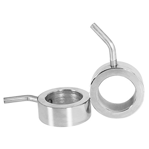GORILLA SPORTS Olympic barbell collars set chromed – Screw clamps Pair with 2 inch diameter by GORILLA SPORTS