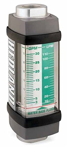 Hedland H613A-015 Flowmeter, Aluminum, For Use With Water-Based Fluids, 1 - 15 gpm Flow Range, 1/2' NPT Female