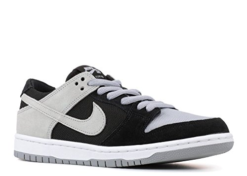 Nike SB Zoom Dunk Low PRO Mens Skateboarding-Shoes 854866-001_11 - Black/Wolf Grey-White-White ()