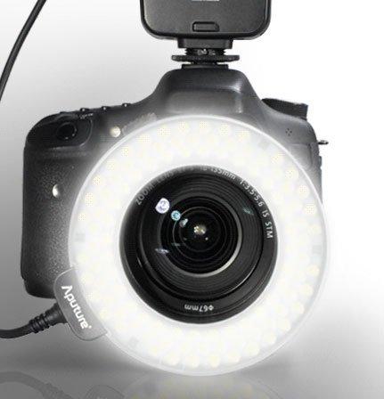 [ Aputure Amaran LED 100球 リングライト HN100 ] Nikon デジタル一眼レフカメラ対応 オートマクロストロボの商品画像