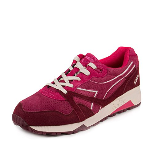Diadora N9000 S Mens Red Suede Lace Up Sneakers Shoes
