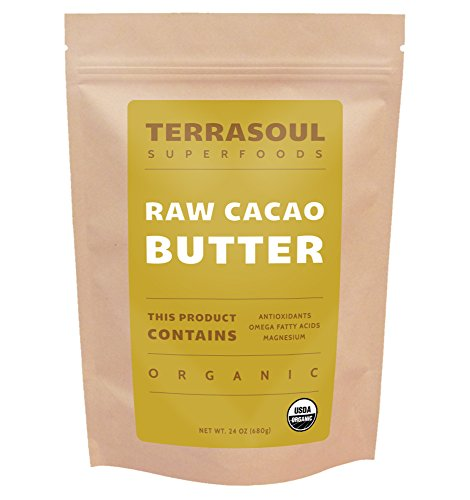 Terrasoul Superfoods Raw Organic Cacao Butter, 1.5 Pounds