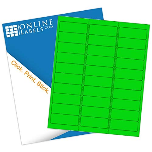 (Online Labels - Neon Green Address Labels - 2.625