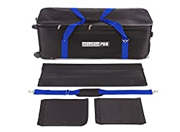 StudioPRO All in One Roller Bag for Photography Photo Studio On Location Shoots Carrying Bag for Camera and Lighting Equipment 36 x 12 x 14 in