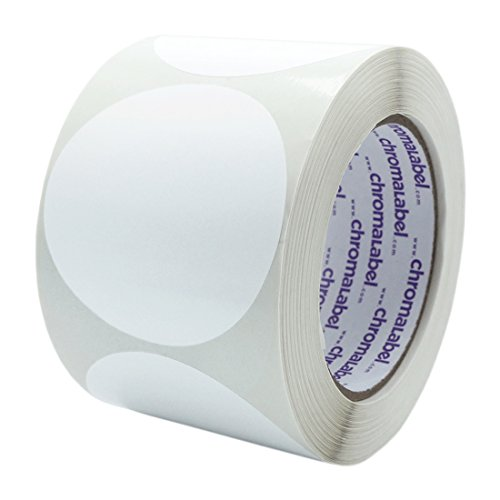 ChromaLabel 3 inch Color-Code Dot Labels   500/Roll (White)