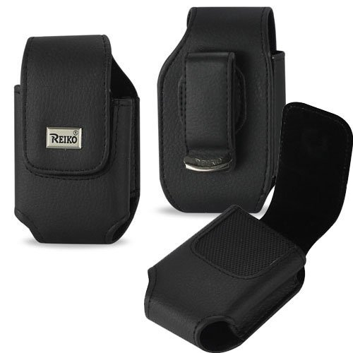 Vertical Leather Case with Magnetic closure with belt clip for LG Revere 3. (3.86