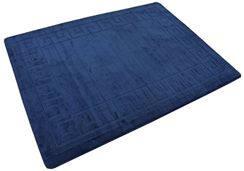 """Minaan Collection Meander Ancient Greek Key Design Area Rug Rugs Modern Contemporary Area Rug 2 Color Options (Royal Navy Blue Meander, 4'11"""" x 6'6"""")"""