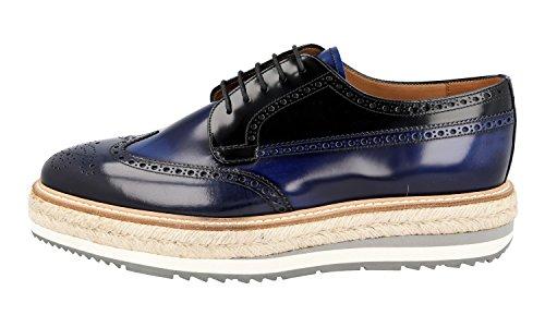 Prada Hombres 2eg015 85m F0d0h Zapatos De Cordones De Cuero De Brogue Completo