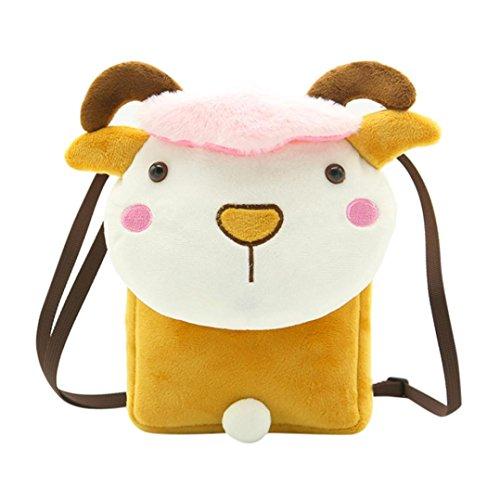 (school bag for kids,iOPQO BABY Cartoon Shoulder Handbag Cross Body Messenger Bag)