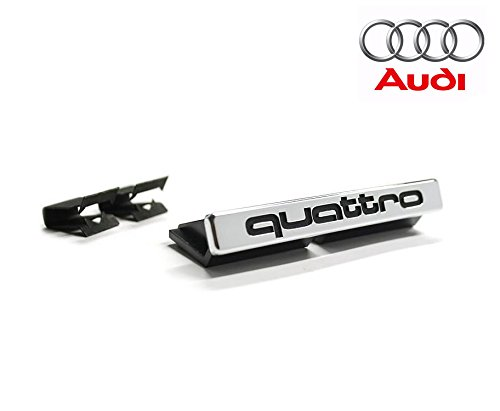 Butlers of London Audi Quattro Emblem for Radiator Grill Black on Silver AGM