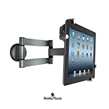 Bentley Mounts Universal Tablet Wall Mount for Hands Free Viewing in Your Home, Office, Store, or Bedroom Wall with a Single Swivel Arm for Maximum Flexibility -Rotation: 360° - Swivel: 180° - Tilt: ±45°