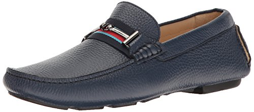 Bugatchi Mens Monza Förare Slip-on Loafer Bluette
