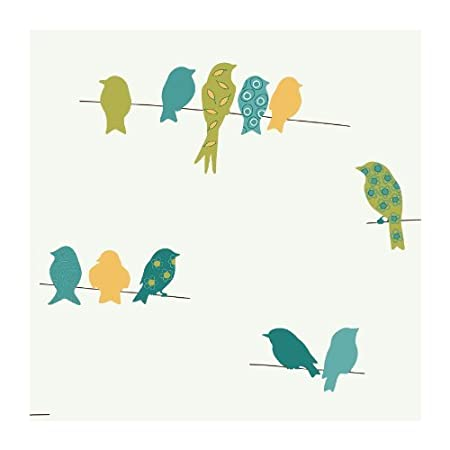 York Wallcoverings Kb8539 Bistro 750 Bird On A Wire Prepasted