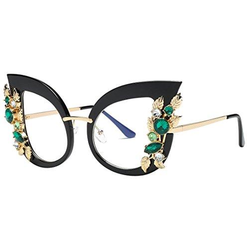 Women Cat Eye Rhinestone-Jewelled Sunglasses Lens Shades Eyewear